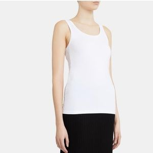 NWT Theory Bram Scoop-Neck Tank in Stretch Cotton